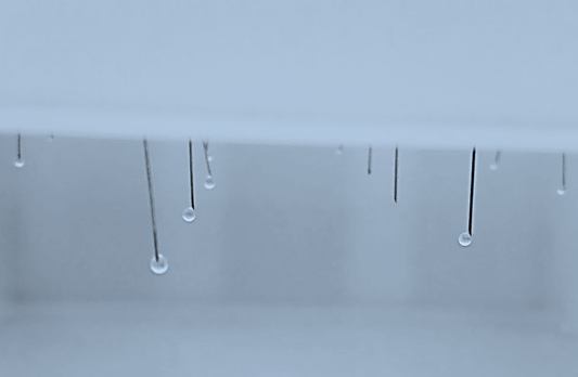 Droplet formation at a laboratory irrigation stand